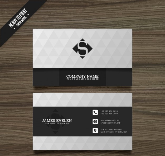white-and-black-business-card