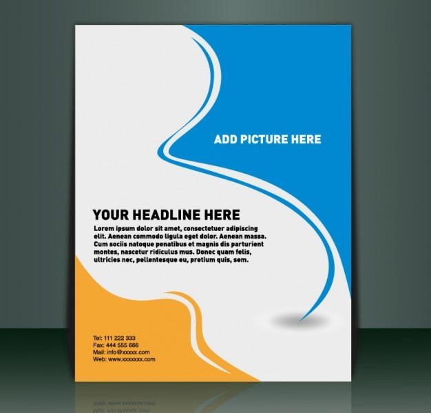 دانلود فایل لایه باز تراکت تبلیغاتی بسیار زیبای نارنجی، سفید و آبی